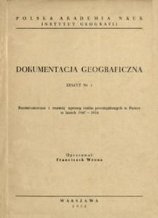 Rozmieszczenie i rozwój uprawy roślin przemysłowych w Polsce w latach 1947-1954
