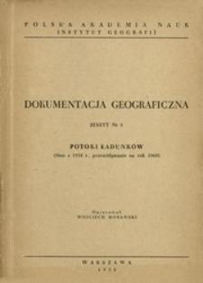 Potoki ładunków : stan z 1954 r., przewidywanie na rok 1960