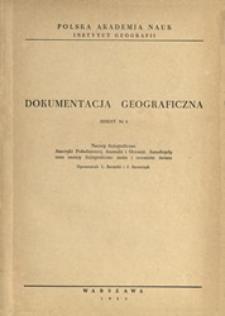 Nazwy fizjograficzne Ameryki Południowej, Australii i Oceanii, Antarktydy oraz nazwy fizjograficzne mórz i oceanów świata