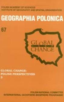 Geographia Polonica 67 (1996), Global Change : Polish Perspectives 3