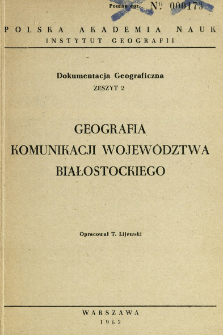 Geografia komunikacji województwa białostockiego