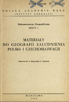 Materiały do geografii zaludnienia Polski i Czechosłowacji