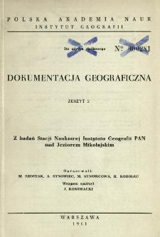 Z badań Stacji Naukowej Instytutu Geografii PAN nad Jeziorem Mikołajskim