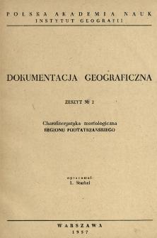 Charakterystyka morfologiczna regionu Podtatrzańskiego