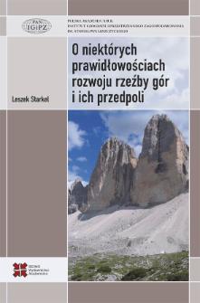 O niektórych prawidłowościach rozwoju rzeźby gór i ich przedpoli (na przykładzie wybranych gór Eurazji)