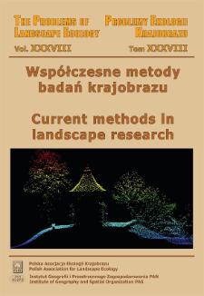 Problemy Ekologii Krajobrazu = The Problems of Landscape Ecology, t. 38, Spis treści