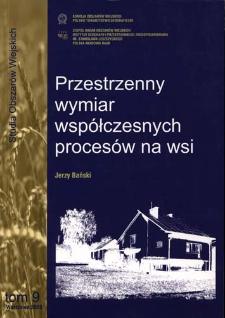 Przestrzenny wymiar współczesnych procesów na wsi