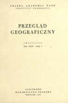 Przegląd Geograficzny T. 32 z. 4 (1960)