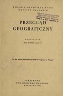 Przegląd Geograficzny T. 33 z. 3 (1961)