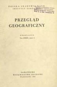 Przegląd Geograficzny T. 33 z. 4 (1961)