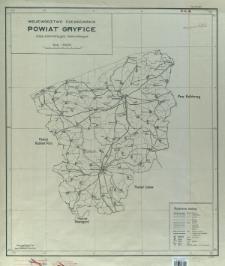 Województwo szczecińskie, powiat Gryfice : mapa administracyjna i komunikacyjna : skala 1:100 000