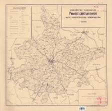 Powiat ciechanowski, województwo warszawskie : mapa administracyjna i komunikacyjna 1:100.000