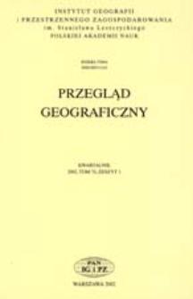 Przegląd Geograficzny T. 74 z. 1 (2002)