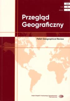 Przegląd Geograficzny T. 93 z. 1 (2021)