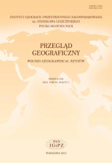 Przegląd Geograficzny T. 85 z. 1 (2013)
