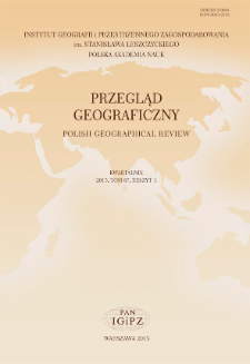 Przegląd Geograficzny T. 87 z. 3 (2015)