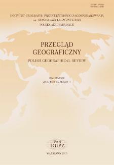 Przegląd Geograficzny T. 87 z. 4 (2015)