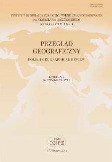 Przegląd Geograficzny T. 88 z. 1 (2016)