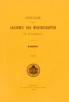Anzeiger der Akademie der Wissenschaften in Krakau. Nr 6 Juni (1980)