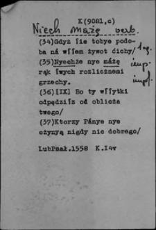 Kartoteka Słownika polszczyzny XVI w.; Źródło; Lub, Psał, verb
