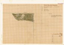 KZG, V 14 B, plan archeologiczny wykopu