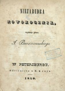 Niezabudka : noworocznik wydany przez Jana Barszczewskiego