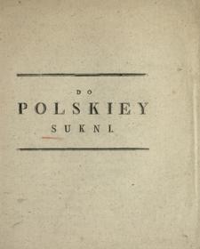 Do Polskiey Sukni