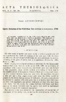 Spotty mutation of the wild boar Sus scrofa Linnaeus, 1758