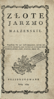 Złote Jarzmo Małżenskie