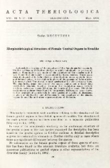 Morphohistological structure of female genital organs in sousliks