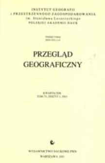 Przegląd Geograficzny T. 73 z. 3 (2001)