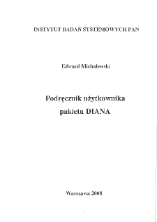 Podręcznik użytkownika pakietu DIANA