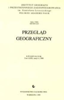 Przegląd Geograficzny T. 71 z. 4 (1999)