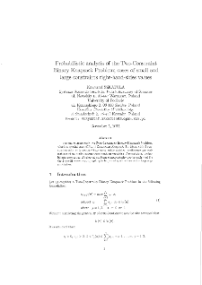 Probabilistic analysis of the Two-Constraint Binary Knapsack Problem : cases of small and large constraints right-hand-sides values
