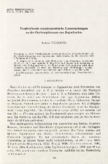 Vergleichende morphometrische Untersuchungen an der Gartenspitzmaus aus Jugoslawien