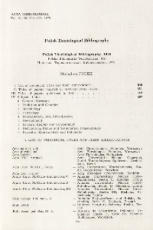 Polish Theriological Bibliography, 1975