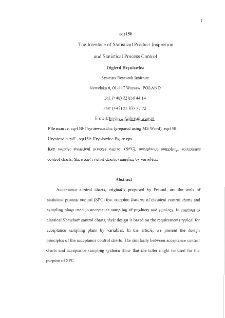 The interface of statistical product inspection and statistical process control