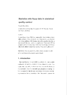 Statistics with fuzzy data in statistical quality control