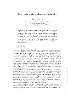 Fuzzy sets in the evaluationof reliability