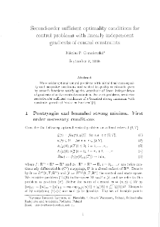 Second-Order Sufficient Optimality Conditions for Control Problems with Linearly Independent Gradients of Control Constraints