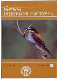 """Animal species protection in the Kraków province"": a scientific session (Kraków, 20 April 1998)"