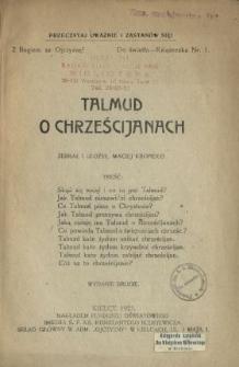 Talmud o chrześcijanach