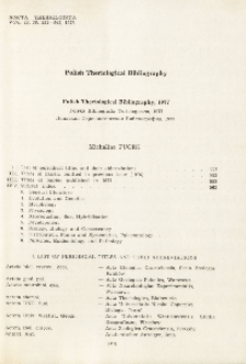 Polish Theriological Bibliography, 1977