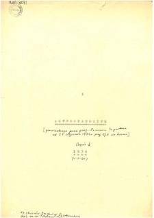 Konwersatorium estetyczne : Protokoły z 9 posiedzeń (25 stycznia - 21 czerwca) [1934]