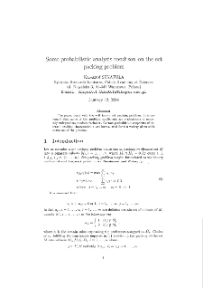 Some probabilistic analysis results on the set packing problem