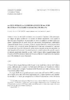 Nomi femminili nei corpora online di antichi documenti volgari italiani del medioevo
