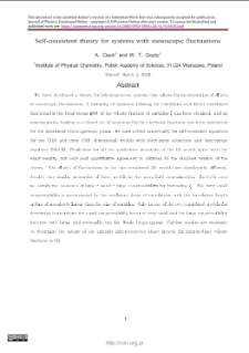 Self-consistent theory for systems withmesoscopic fluctuations