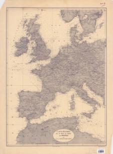 Carte routière de la Mer du Nord au Maroc et à la Mediterranée