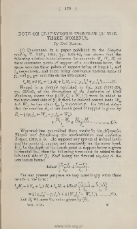 Note on clapeyron's theorem of the three moments