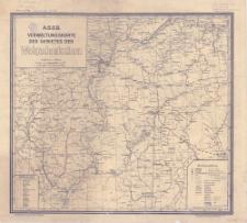 A.S.S.R. Verwaltungskarte des Gebietes der Wolgadeutschen : Maßstab 1:500 000